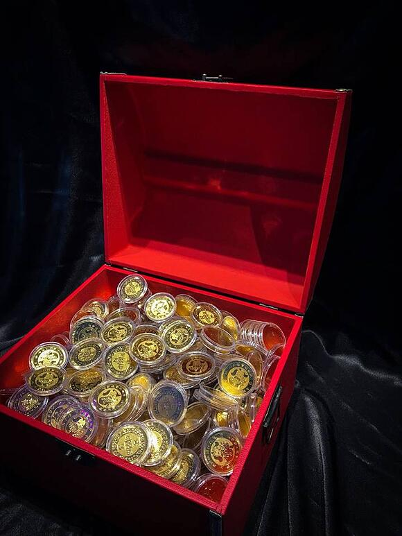 Treasure Trove filled with Pure Gold Coins