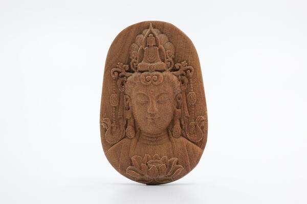 Red India Old Mountain Sandalwood Guan Yin (Front)
