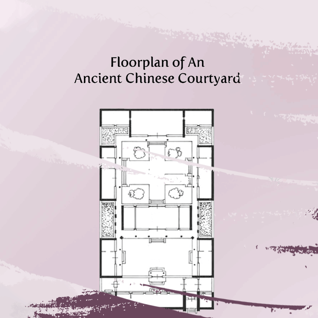 Floorplan of an ancient chinese courtyard