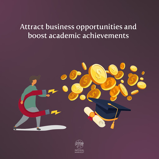 Attract business opportunities and academic achievements
