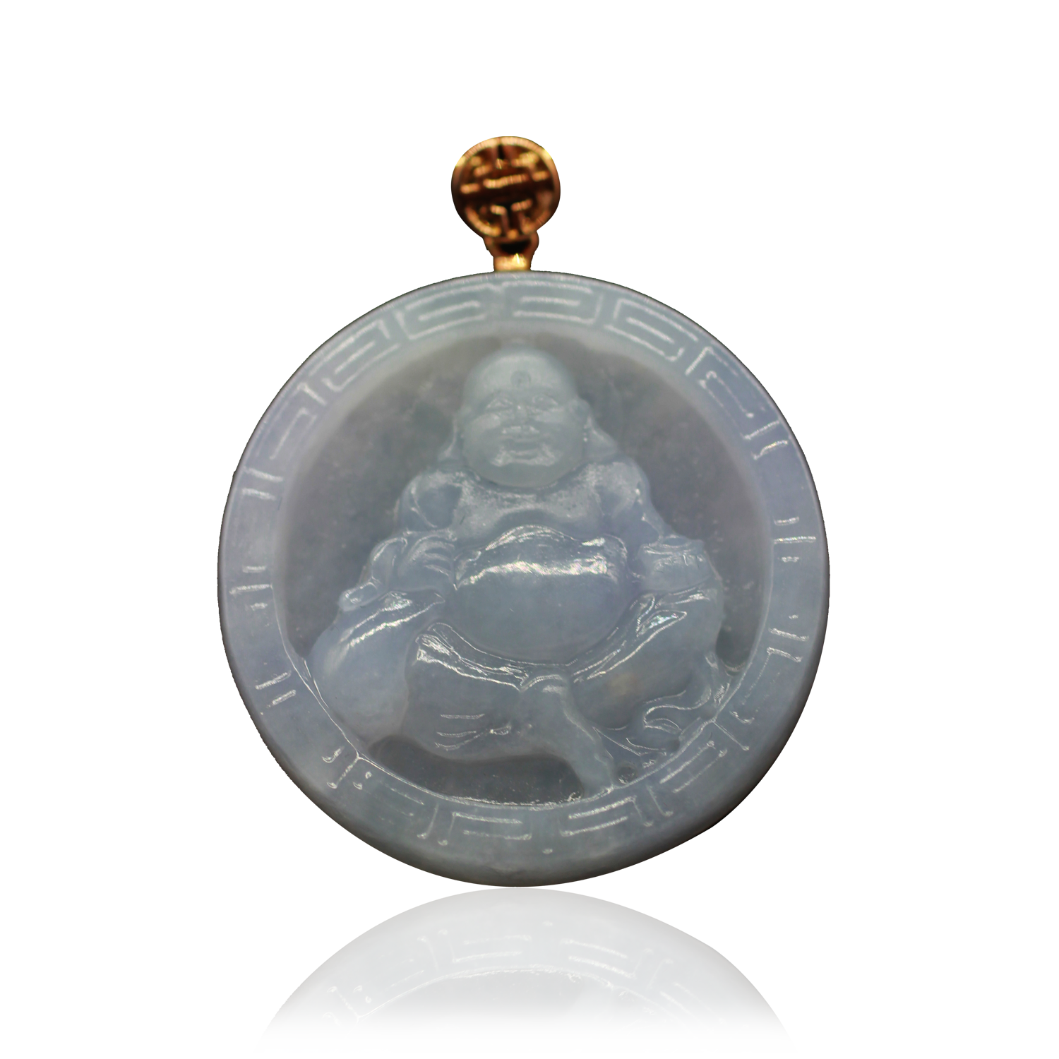 Laughing-Buddha-Circle-Lavender-w-Reflection-SQ