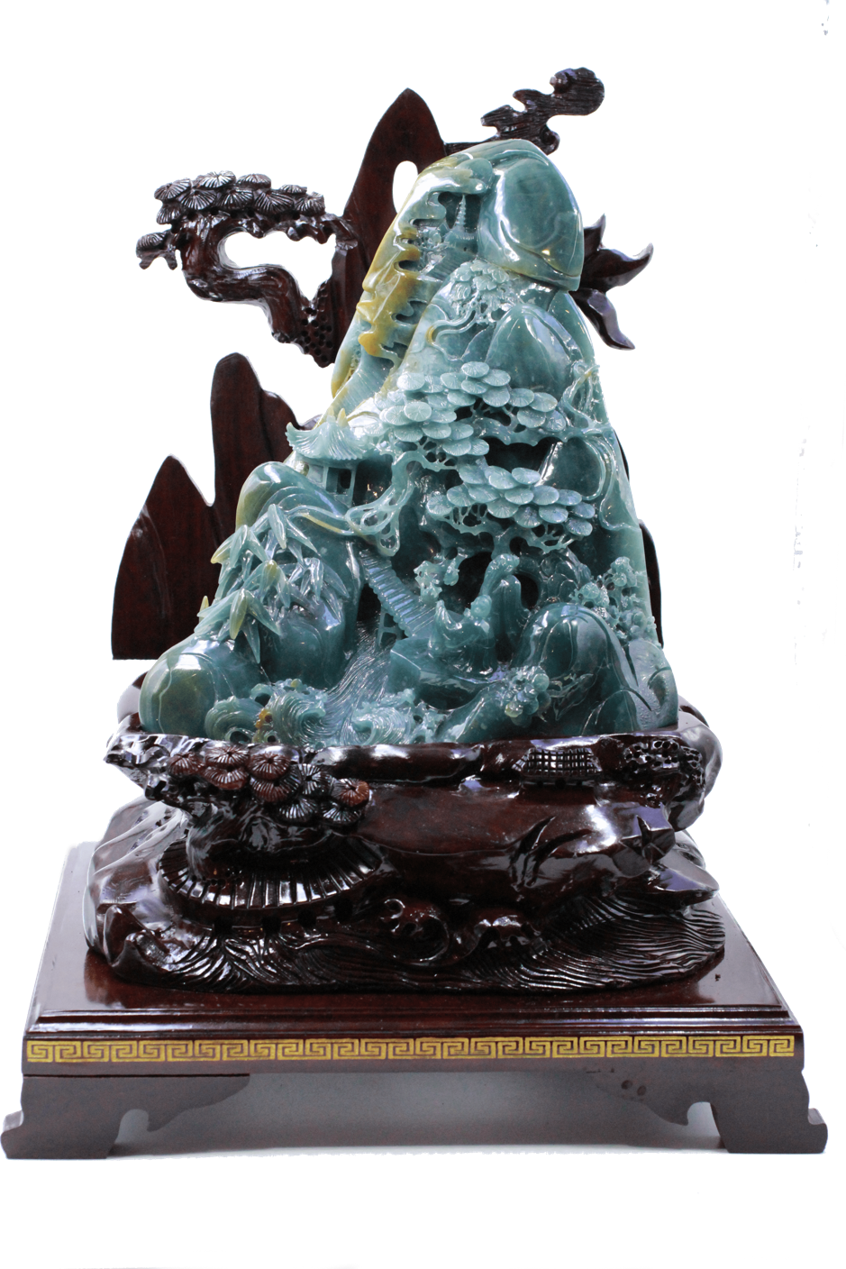 Qian Long Jadeite Wood Mountain - Ref 4821