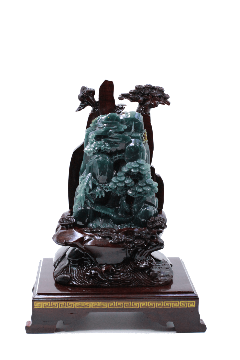 Qian Long Jadeite Metal Mountain - Ref 5901